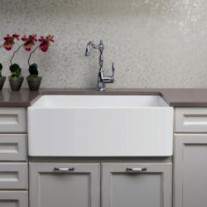 Novi Single Fireclay Sink - Flat Front