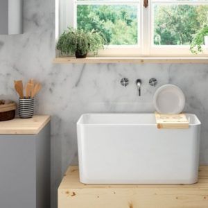 TRIBO FIRECLAY LAUNDRY SINK